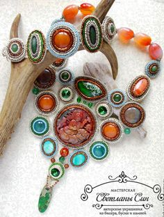 Beautiful jewelry with carved stones | Beads Magic
