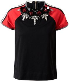 Embellished Retro Cotton T-Shirt