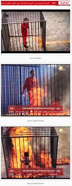 "- Uskowi on Iran, 5 Feb, ""Islamic State"" Burns a Muslim Jordanian… Muslim Brotherhood, Sharia Law, Righteousness, Healer, Middle East, Wake Up, Karma, Monsters, Horror"