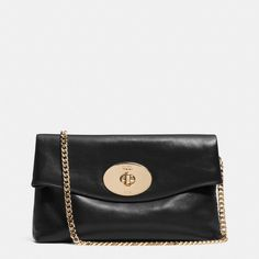 The Turnlock Clutch In Leather from Coach