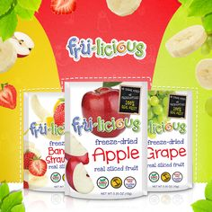 I like to eat, eat, eat apples and bananas… And grapes, and strawberries #frulicious Shop here: http://fru-licious.com/