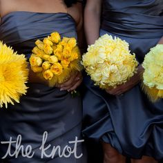 I love the idea of not having everything the same.  Almost every wedding has the girls wearing the same dresses.  This is a classy way to add variety but still get that streamlined look