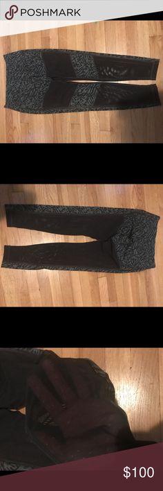 Lululemon Hot to Street leggings , size 10 New just worn once but not my style, all black panels is mesh, full length lululemon athletica Pants Leggings