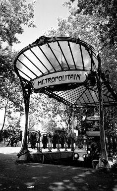 Metro station entrance in Paris