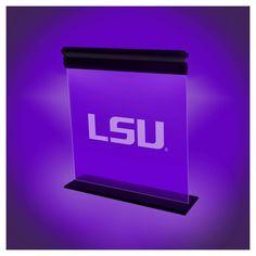 NCAA Lsu Tigers Acrylic Neon Led Light, Purple/Gold
