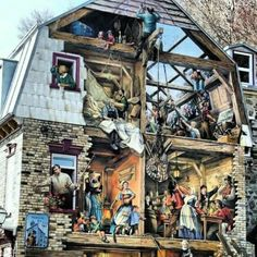 Incredible art on the side of a building in Quebec!