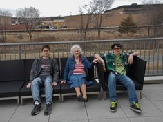 Joshua, Mom, and Nathaniel on the balcony at Springhill Suites in Alexandria, VA  2/23/14