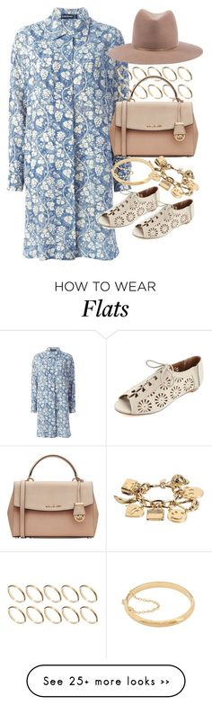"""Untitled #5258"" by ashley-r0se-xo on Polyvore featuring Louis Féraud, ASOS, MICHAEL Michael Kors, Moschino, Sterling Essentials, Charlotte Russe and Janessa Leone"