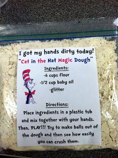 """The Cat in the Hat Magic Dough"" we might have to add this to our day"