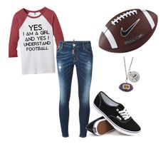 """""""football sunday"""" by dude-188 ❤ liked on Polyvore featuring Dsquared2, Vans and NIKE"""