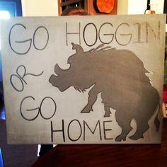 Hog Hunting painting