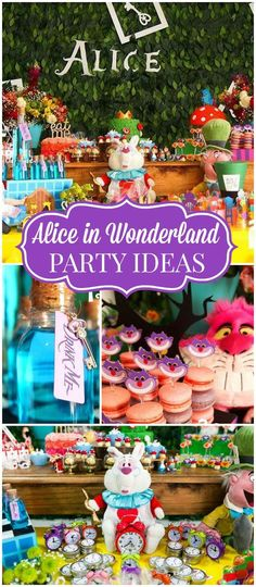 Check out this elaborate Alice in Wonderland party! See more party ideas at Catc… - Wonderland First Birthday Parties, Birthday Party Themes, Birthday Ideas, Alice In Wonderland Birthday, Alice In Wonderland Party Ideas, Girls Party, Alice Tea Party, Mad Hatter Party, Sweet 16 Parties