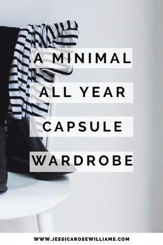 I love her capsule wardrobe!!   Year Round Capsule Wardrobe   Minimal Fashion   Minimal Style   How to Build a Capsule Wardrobe