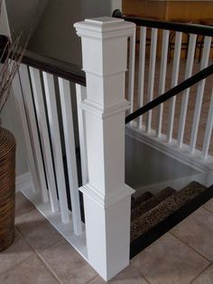 Stair Banister Renovation Using Existing Newel Post and Handrail