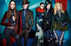 CAMPAIGN: ISELIN STEIRO, MAGDA LAGUNGE, MILES MCMILLAN, TON HEUKELS & LAURA LOVE FOR ETRO FALL 2012 BY PHOTOGRAPHER MARIO TESTINO