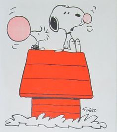 Snoopy and Woodstock blowing bubbles with bubble gum. Peanuts Gang, Charlie Brown And Snoopy, Snoopy Cartoon, Peanuts Cartoon, Peanuts Characters, Cartoon Characters, Cartoon Pics, Snoopy Et Woodstock, Potpourri