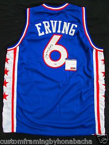 Julius Erving Dr. J Philadelphia 76ers Signed Jersey Auto PSA DNA 5A54299  Sports Jerseys 4ee4577c4