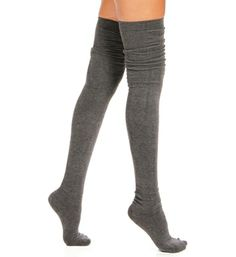 Dark Gray Solid Thigh High Socks - perfect with skirt & boots. Thigh High Socks, Thigh Highs, Pretty Outfits, Cute Outfits, Sexy Socks, Winter Wear, Swagg, Dress To Impress, What To Wear