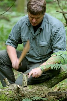 The legend that is; Ray Mears. - faery man. Just saw him on tele talking to a puffin in puffin language <3