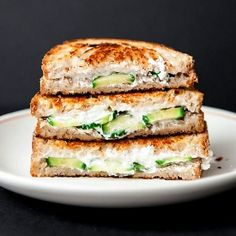 Cucumber #Goatcheese grilled cheese #sandwiches... a crisp and refreshing rendition for #summer.