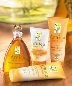 Productos de árnica de la marca Yves Rocher, maravillosos para la piel de las manos y para un suave masaje de árnica.