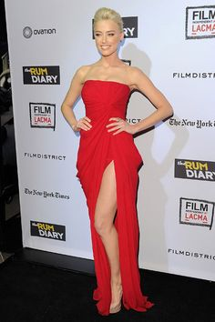 Amber Heard, Elie Saab. 2011 film premiere. This is why she's my girl crush.