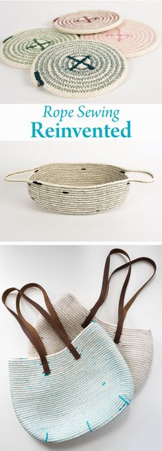 Rope sewing is back in a clever way. Learn how to make cool decor and accessories with the latest trend in DIY. Nancy's Notions   Rope Sewing   nancysnotions.com