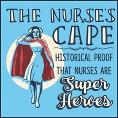 JUNIORS NURSE T-SHIRT • Nurse's Cape =Proof Nurses are Super Heroes!-JSST-4436