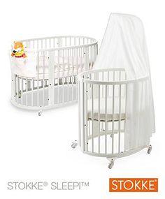Stokke® Sleepi™ Baby Cot ,Mini Cot Kit, Drape Bar, Mini Mattress And Baby Sleepi Mattress White