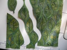 I am making leaves for a collaborative project. What fun, each is a unique teeny, tiny, mini art q...