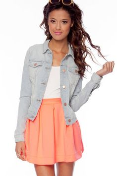 love denim with skirts and dresses