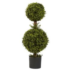 Nearly Natural Artificial Double Boxwood Topiary Tree