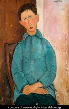 Garcon A La Veste Bleue - Amedeo Modigliani - www.modigliani-foundation.org
