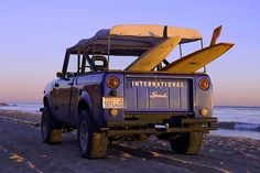✨International Scout- dream ride- I am a jeep girl but this is something I've always wanted 💜 International Harvester Truck, International Scout, Scout Truck, 4x4, Scout 800, Beach Rides, Expedition Vehicle, Vintage Trucks, Land Rover Defender