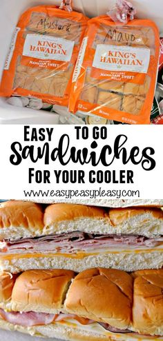 The Most Delicious And Easiest TO GO Sandwiches For Your Cooler! – Easy Peasy Pleasy Make up these easy to go Hawaiian Roll Sandwiches that can be dropped on top of everything in your cooler. Check out our favorite meat and cheese combo! Hawaiian Roll Sandwiches, Rolled Sandwiches, Sandwiches For Lunch, Appetizer Sandwiches, Panini Sandwiches, Finger Sandwiches, Breakfast Sandwiches, Wrap Sandwiches, Gourmet