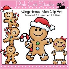 Gingerbread Man Clip Art: Personal & Commercial Use