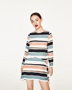 bd4c7040e085 Image 2 of STRIPED FLOUNCE DRESS from Zara Zara United Kingdom, Women Life,  Summer