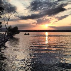 Beautiful sunset photo by @Whitney Davis Jagow! Thanks for sharing it with us. #ItsMyShow #Branson #Fishing