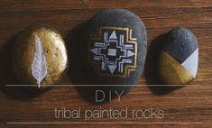DIY // tribal painted rocks