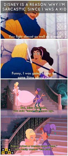 Funny disney memes, Disney jokes, Disney funny, Disney memes, Disney princess me. - Best of Memes - killershares Funny Disney Pictures, Disney World Pictures, Funny Disney Jokes, Stupid Funny Memes, Funny Relatable Memes, Sarcastic Memes, Disney Humor, Disney Memes Clean, Clean Funny Memes
