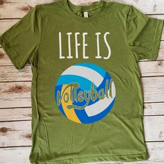 Life Is Volleyball 157 Great volleyball t shirt/mug/bag gift for family, friends, volleyball players, volleyball lovers or any women, men, girls, boys you know who loves volleyball. - get yours by clicking the link in my profile bio.