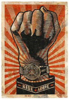 Shepard Fairey - Street Art - Poster - Rise Above Fist Protest Art, Protest Posters, Art Obey, Shepard Fairy, Shepard Fairey Obey, Shepard Fairey Artwork, Propaganda Art, Chinese Propaganda, Political Art