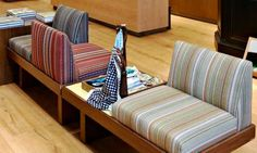 love the stripes on the seats  (Paul Smith store A'dam)