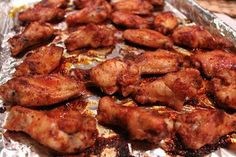 Baked Brown Sugar Wings: Better-for-you Superbowl food!.