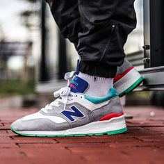 "Remember these beauties? in the NB 997 ""Coumarin Pack"" Fashion Shoes, Mens Fashion, New Balance Sneakers, Trainers, Street Wear, Kicks, Running, Lifestyle, Men's Style"
