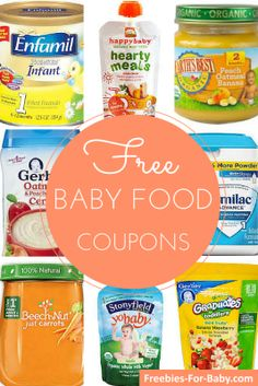 Baby Formula Coupons and Baby Food Coupons If you have a new baby or are expecting, you'll definitely appreciate this HUGE list of baby food coupons