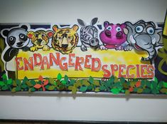 Art ,Craft ideas and bulletin boards for elementary schools: Endangered species