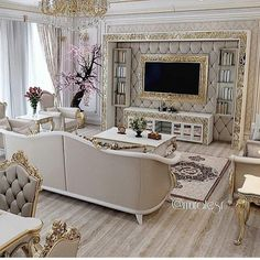 Stunning Ideas To Decorate Stylish Living Room Luxury Homes Interior, Home Interior Design, Interior Decorating, Home Living Room, Living Room Designs, Living Room Decor, Luxurious Bedrooms, Luxury Living, House Design