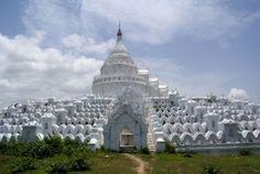 Mingun Pahtodawgyi | 3384085-grass-and-hsinbyume-paya-in-mingun-mandalay-myanmar