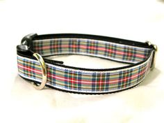 Dress Stewart Tartan Dog Collar